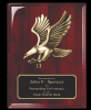 Rosewood Piano Finish plaque with Eagle Casting Page 26 - Plaques