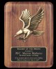 Walnut Eagle Plaque Patriotic Awards