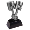 Antique Silver Piston Resin Racing Awards