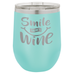 Wine Glass -12oz - Teal 12oz Wine Glass Tumbler