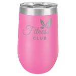 Wine Tumbler - 16oz - Pink 16oz Stainless Steel Wine Tumblers