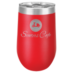Wine Tumbler - 16oz - Red 16oz Stainless Steel Wine Tumblers