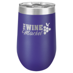 Wine Tumbler - 16 oz - Purple 16oz Stainless Steel Wine Tumblers