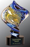 Diamond Twist Art Glass Award Achievement Awards