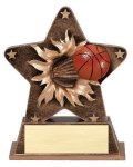 Star Burst Resin -Basketball Basketball Awards