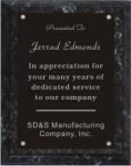 Black Marble Finish Plaque Black Marble Finish Plaques