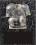 Team Special Football Plaque Black Marble Finish Plaques