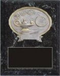 Black Marble Finish Plaque with Oval Mount Black Marble Finish Plaques