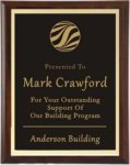 Cherry Finish Plaque with Gold Border Cherry Finish Plaques