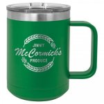 Coffee Mug Tumbler - 15oz - Green Coffee Stainless Steel Tumbler