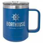 Coffee Mug Tumbler - 15oz - Blue Coffee Stainless Steel Tumbler