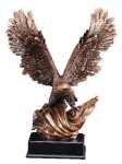 Bronze Eagle With Flag Eagle Sculptured Awards