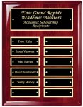 Perpetual Plaque Board with Heavy Lacquer Finish Employee Awards
