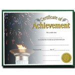 Achievement  Fill in the Blank Certificates - Full Color