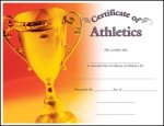 Athletics Fill in the Blank Certificates - Full Color