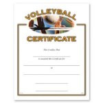 Volleyball Fill in the Blank Certificates - Full Color