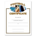 Football Fill in the Blank Certificates - Full Color
