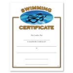 Swimming Fill in the Blank Certificates - Full Color