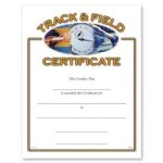 Track And Field Fill in the Blank Certificates - Full Color