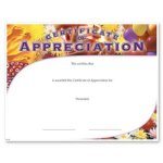 Appreciation Fill in the Blank Certificates - Special Order
