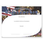 Citizenship Fill in the Blank Certificates - Special Order