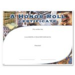 A Honor Roll Fill in the Blank Certificates - Special Order