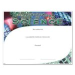 Science Fill in the Blank Certificates - Special Order
