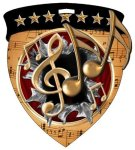 Music Medal Full Color Medal Awards