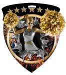Cheerleader Medal Full Color Medal Awards