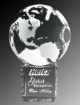 World Globe Optic Crystal Award Globe Crystal Awards