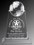 Paramount Globe Optic Crystal Globe Crystal Awards