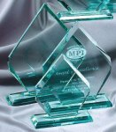 Premium Glass Arrow Jade Glass Awards