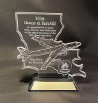 Louisiana Acrylic B-52 Award Louisiana Awards