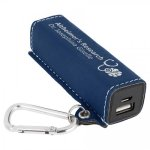 Leatherette 2200mAh Power Bank -Blue/Silver Misc. Gift Awards