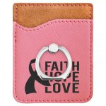 Leatherette Phone Wallet with Ring -Pink Misc. Gift Awards