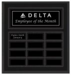 Black Matte Finish Perpetual Plaque Monthly Perpetual Plaques