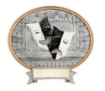 Legend Drama Mask Oval Award Oval Sculptured Awards