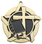 Religion Super Star Medal  Gold Page 3 - Religious Catalog