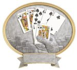 Legend Texas Hold'em Oval Award Poker Awards