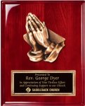 Rosewood Piano Finish Plaque with Religious Mount Religious Awards