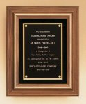 American Walnut Framed Plaque with Gold Trim Sales Awards