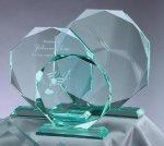 Premium Glass Octagon Sales Awards