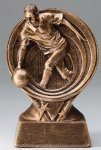 Bowling Resin Trophy, Male Saturn Series Sculptured Award