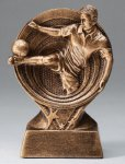 Soccer Resin Trophy, Male Saturn Series Sculptured Award