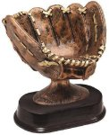 Softball Glove Signature Rosewood Sculptured Awards