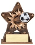 Star Burst Resin -Soccer Soccer Awards