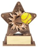 Star Burst Resin -Softball Softball  Awards