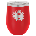 Wine Glass -12oz - Red Stainless Steel Tumblers