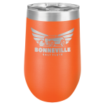 Wine Tumbler - 16oz - Orange  Stainless Steel Tumblers