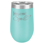 Wine Tumbler - 16oz -Teal Stainless Steel Tumblers